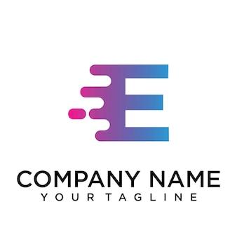 Logo della lettera e veloce