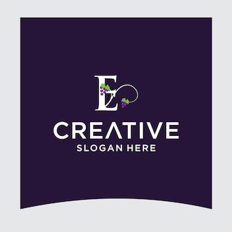 E uva logo design