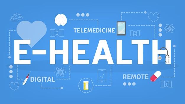 Concetto di sanità elettronica. consultazione in linea con il medico. a distanza