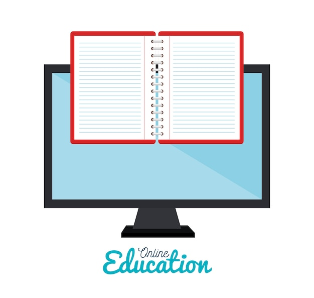 E-learning notebook monitor education online