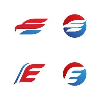 E lettera logo modello icona vettore illustrazione design