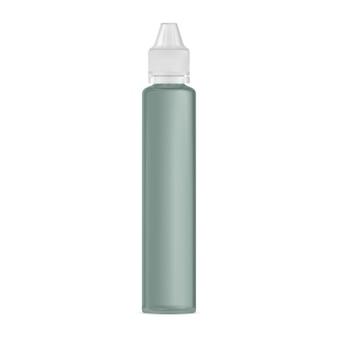 E flacone contagocce liquido vaper succo mockup boccetta di plastica contenitore per siero per gli occhi fiala di glicerina a vapore