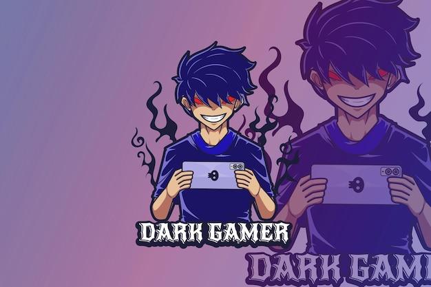 E sport logo design dark gamer