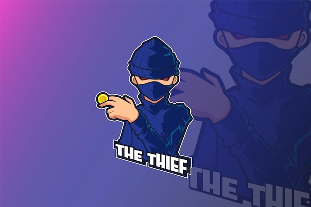 E sport logo design ladro uomo