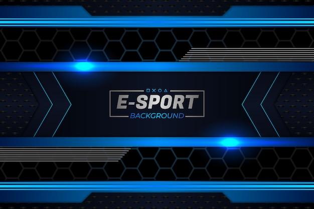 Sfondo di e-sport in stile scuro e blu