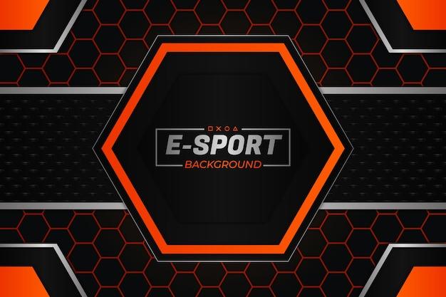 E sports background stile scuro e arancione