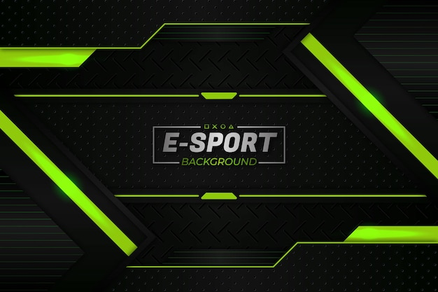 Stile verde di sfondo e-sports