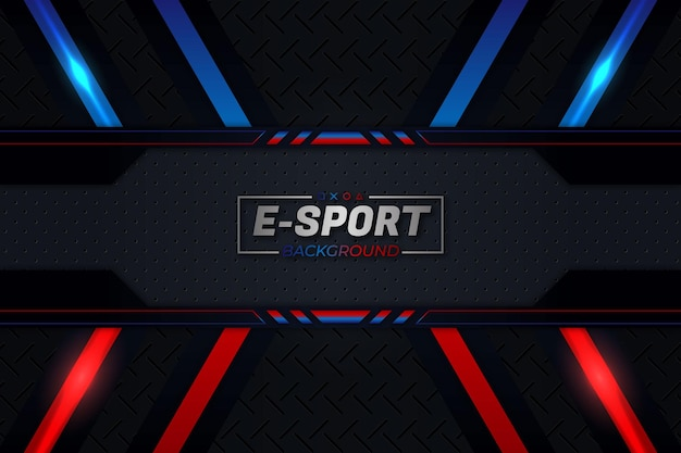 Sfondo di sport elettronici stile rosso e blu