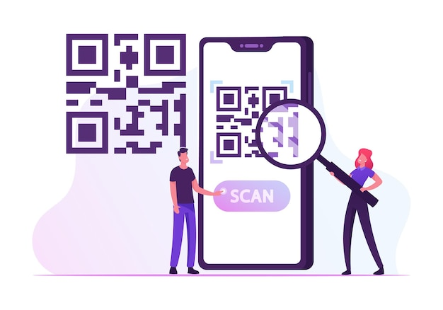 E-wallet, tecnologia di pagamento senza contanti. cartoon illustrazione piatta