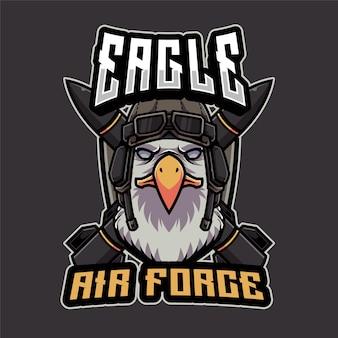 Modello di logo di eagle air force