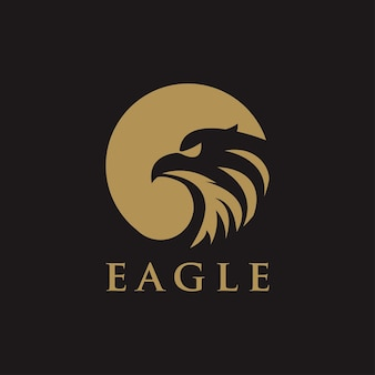 Concetto di vettore di progettazione di logo di eagle bird, modello di logo di uccello