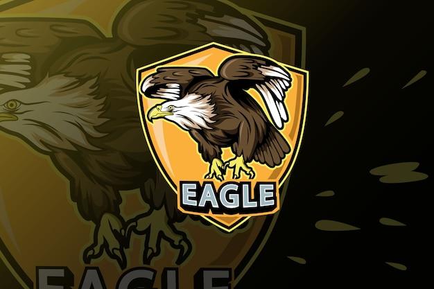 Modello di logo della squadra eagle e-sports