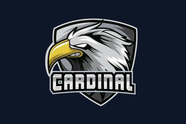 Modello di logo della squadra di e-sport eagle