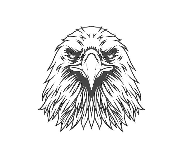 Aquila rivolta in avanti