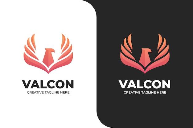 Aquila falco uccello vola logo semplice