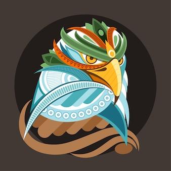 Illustrazione di uccello fantasia geometrica aquila