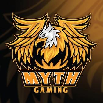 Modello di logo di eagle griffin esport