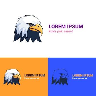 Logo eagle head Vettore Premium