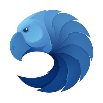 Logo del volume della testa dell'aquila. elementi del modello di disegno animale per la tua identità aziendale o il marchio della tua squadra sportiva.