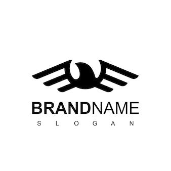 Modello di progettazione del logo dell'aquila