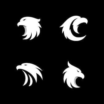 Eagle logo icon design vettore testa di falco