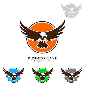 Eagle logo con sfondo colorato
