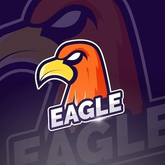 Design del logo esport mascotte dell'aquila
