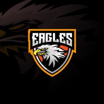 Logo esport della mascotte dell'aquila.