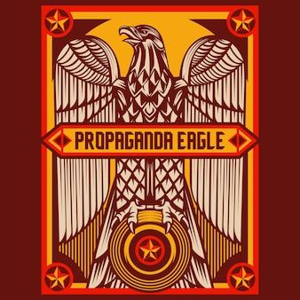 Poster di propaganda di aquila