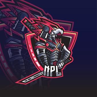 Logo esport eagle samurai