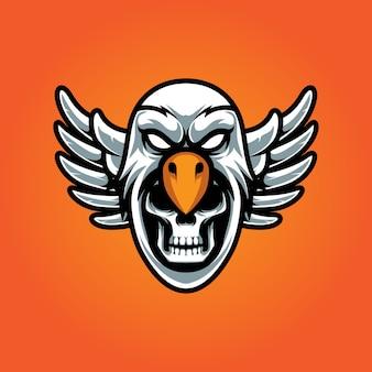 Aquila e teschio e logo sportivo