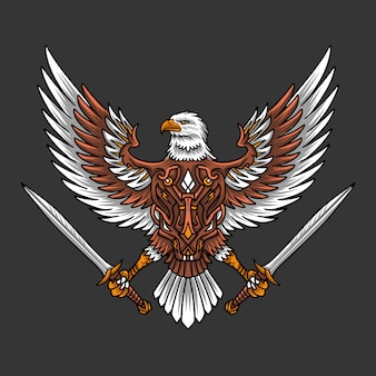 Logo eagle sword
