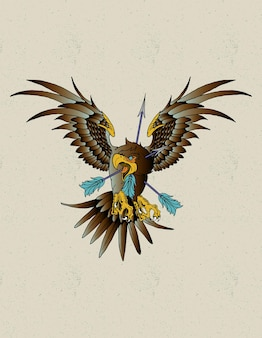 Aquila tatuaggio neo tradizionale