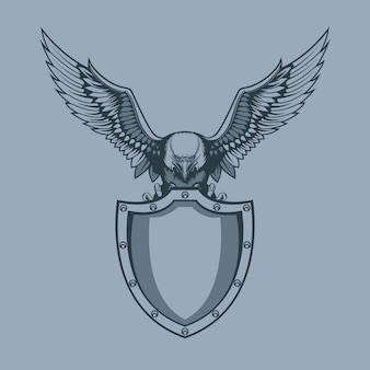 Aquila con scudo in artigli