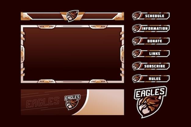 Pannello di gioco eagles overlay