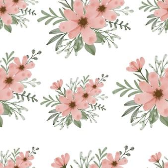 Motivo senza cuciture di bouquet di fiori d'arancio per il design tessile