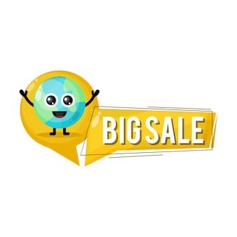 Terra grande vendita mascotte simpatico personaggio
