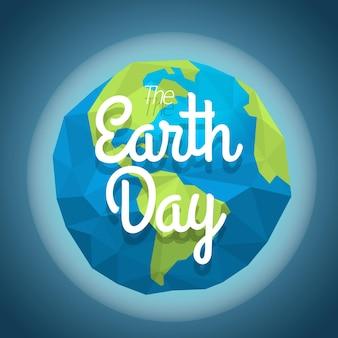 Il concetto della giornata della terra. illustrazione vettoriale con la terra