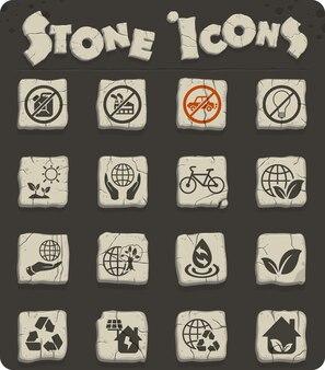 Icone web per la giornata della terra per la progettazione dell'interfaccia utente