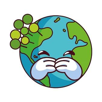 Globo terrestre felice per la conservazione