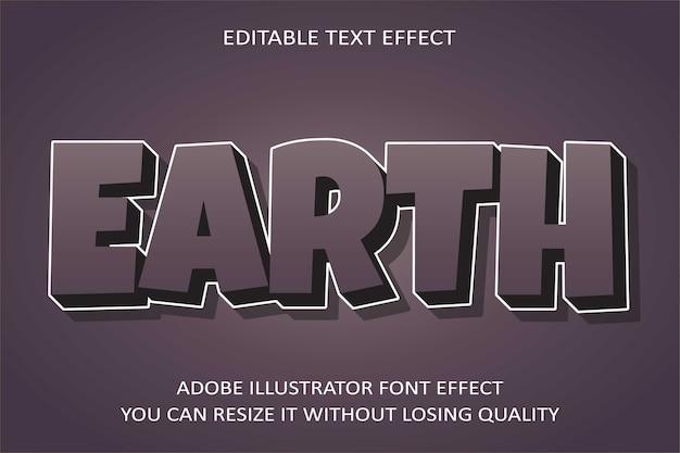 Effetto testo della terra