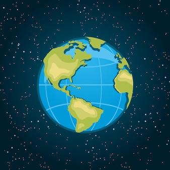 Terra mondo dallo spazio illustrazioni vettoriali