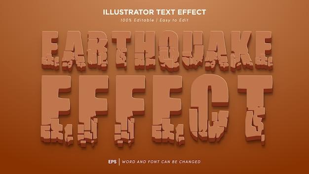 Carattere modificabile effetto testo terremoto