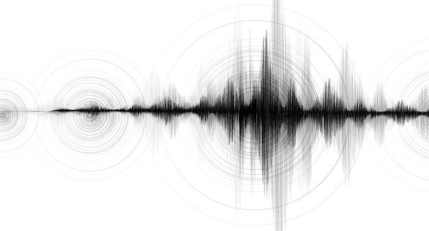 Onda del terremoto con vibrazione circolare