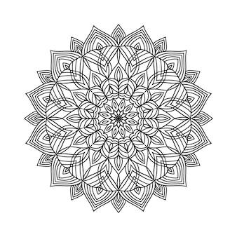 Sfondo mandala da colorare facilmente modificabile e ridimensionabile