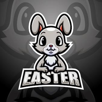 Illustrazione di esport della mascotte del coniglietto di pasqua