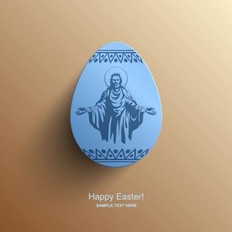 Scheda di pasqua con un'immagine di gesù cristo, sfondo di pasqua