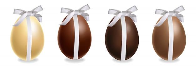 Set regalo di uova di cioccolato di pasqua