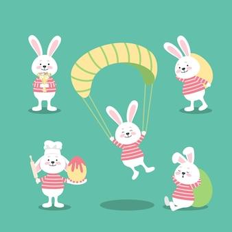 Collezione di coniglietto del giorno di pasqua