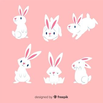 Collezione di conigli di giorno di pasqua